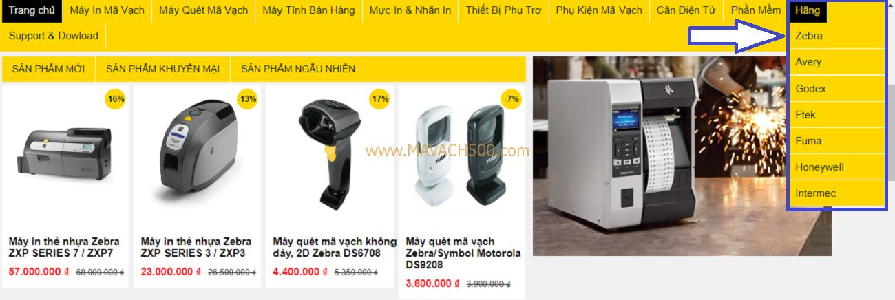 Mã vạch 500 - Hướng dẫn mua hàng trên website Mavach500.com