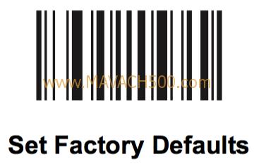 Hướng dẫn cài đặt cho Symbol LI4278: cài đặt về gốc lúc xuất xưởng